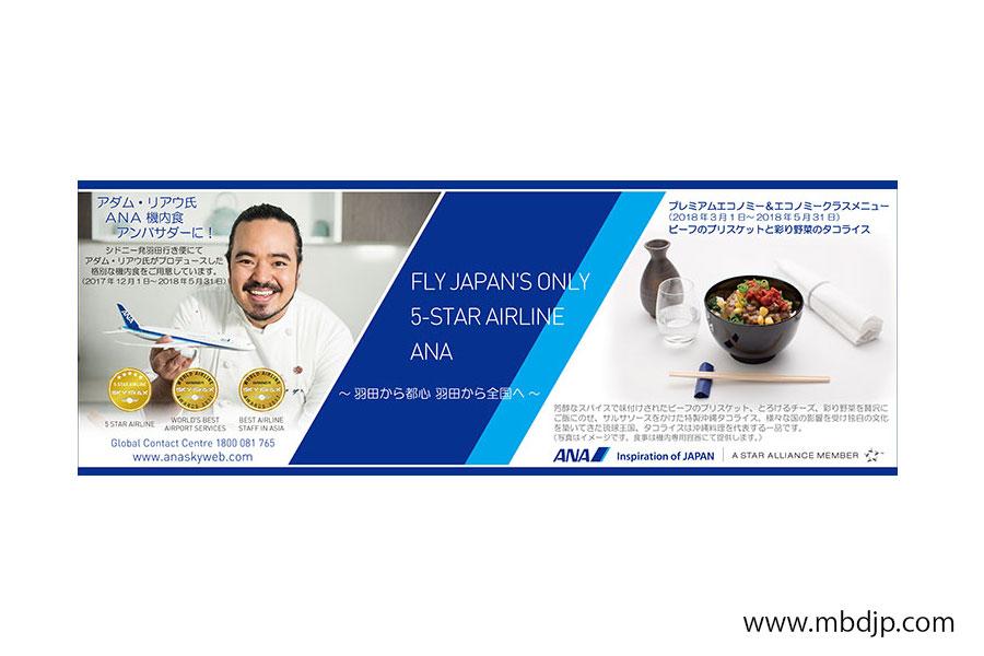 ANA紙面広告デザイン