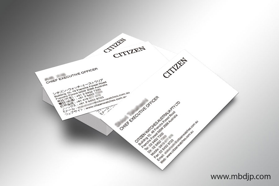 Citizen名刺デザイン