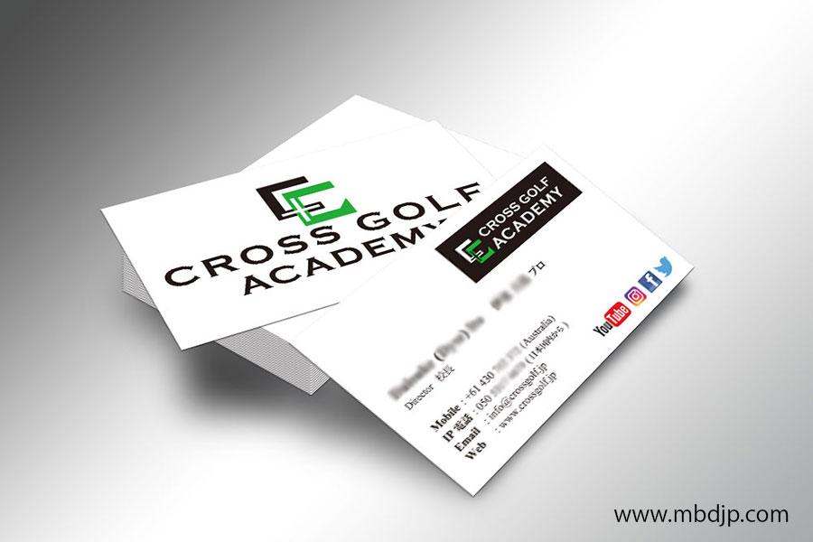 Cross Golf Academy名刺印刷